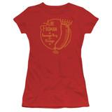 Ferris Bueller's Day Off Abe Froman Junior Women's T-Shirt Red