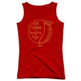 Ferris Bueller's Day Off Abe Froman Junior Women's Tank Top T-Shirt  Red