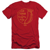 Ferris Bueller's Day Off Abe Froman Adult 30/1 T-Shirt Red