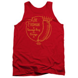 Ferris Bueller's Day Off Abe Froman Adult Tank Top T-Shirt Red