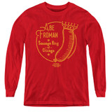Ferris Bueller's Day Off Abe Froman Youth Long Sleeve T-Shirt Red