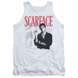 Scarface Stairway Adult Tank Top T-Shirt White