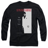 Scarface Classic Adult Long Sleeve T-Shirt Black