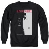 Scarface Classic Adult Crewneck Sweatshirt Black