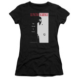 Scarface Classic Junior Women's Sheer T-Shirt Black