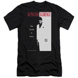 Scarface Classic Premium Canvas Adult Slim Fit T-Shirt Black