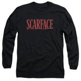 Scarface Logo Adult Long Sleeve T-Shirt Black