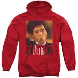 Scarface Smoking Cigar Adult Pullover Hoodie Sweatshirt Red