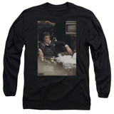 Scarface Sit Back Adult Long Sleeve T-Shirt Black