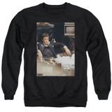 Scarface Sit Back Adult Crewneck Sweatshirt Black