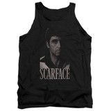 Scarface Black And White Tony Adult Tank Top T-Shirt Black
