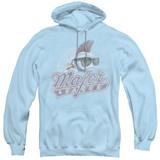 Major League Distressed Logo Adult Pullover Hoodie Sweatshirt Light Blue