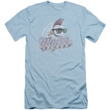 Major League Distressed Logo Adult 30/1 T-Shirt Light Blue