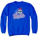 Major League Title Adult Crewneck Sweatshirt Royal Blue