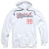 Major League 99 Adult Pullover Hoodie Sweatshirt White