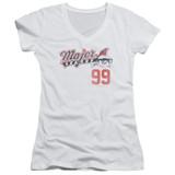 Major League 99 Junior Women's V-Neck T-Shirt White