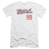 Major League 99 Premium Canvas Adult Slim Fit 30/1 T-Shirt White