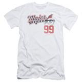 Major League 99 Adult 30/1 T-Shirt White