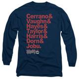 Major League Team Roster Adult Long Sleeve T-Shirt Navy