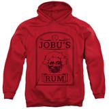 Major League Jobu's Rum Adult Pullover Hoodie Sweatshirt Red