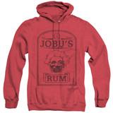 Major League Jobus Rum Adult Heather Hoodie Sweatshirt Red