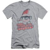Major League Vintage Logo Adult 30/1 T-Shirt Athletic Heather