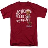 Major League Jobu Needs A Refill Adult 18/1 T-Shirt Cardinal