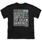 The Sandlot The Great Bambino Youth T-Shirt Black