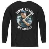 The Sandlot Small Ham Youth Long Sleeve T-Shirt Black