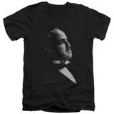Godfather Graphic Vito Adult V-Neck T-Shirt Black