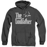 Godfather Logo Adult Heather Hoodie Sweatshirt Black