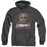 Annabelle Annabelle Portrait Adult Heather Hoodie Sweatshirt Black