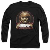 Annabelle Annabelle Portrait Adult Long Sleeve T-Shirt Black
