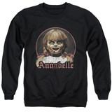 Annabelle Annabelle Portrait Adult Crewneck Sweatshirt Black