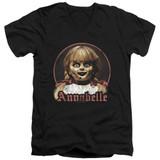 Annabelle Annabelle Portrait Adult V-Neck T-Shirt Black