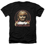 Annabelle Annabelle Portrait Adult Heather T-Shirt Black