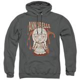 Annabelle Annabelle Illustration Adult Pullover Hoodie Sweatshirt Charcoal