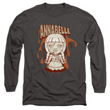 Annabelle Annabelle Illustration Adult Long Sleeve T-Shirt Charcoal
