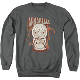 Annabelle Annabelle Illustration Adult Crewneck Sweatshirt Charcoal
