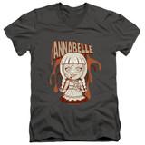 Annabelle Annabelle Illustration Adult V-Neck T-Shirt Charcoal