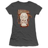 Annabelle Annabelle Illustration Junior Women's T-Shirt Charcoal