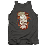 Annabelle Annabelle Illustration Adult Tank Top T-Shirt Charcoal