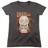 Annabelle Annabelle Illustration Women's T-Shirt Charcoal