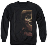 Annabelle Doll Tear Adult Crewneck Sweatshirt Black