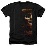 Annabelle Doll Tear Adult Heather T-Shirt Black