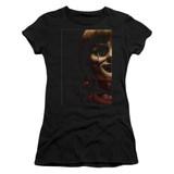 Annabelle Doll Tear Junior Women's T-Shirt Black