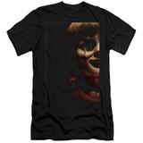 Annabelle Doll Tear Adult 30/1 T-Shirt Black