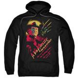A Nightmare on Elm Street Freddy Claws Adult Pullover Hoodie Sweatshirt Black