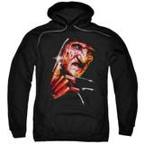 A Nightmare on Elm Street Freddy's Face Adult Pullover Hoodie Sweatshirt Black