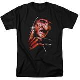 A Nightmare on Elm Street Freddy's Face Adult 18/1 T-Shirt Black